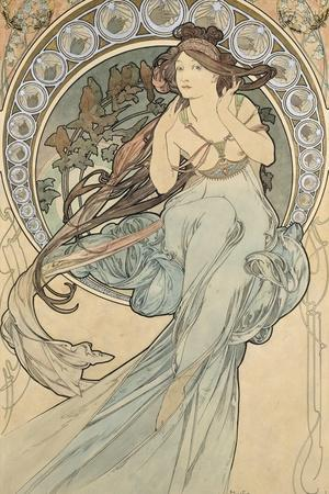 La Musique, 1898-Alphonse Mucha-Giclee Print