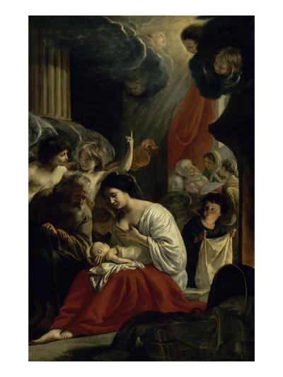 La  Nativité de la Vierge-Mathieu Le Nain-Giclee Print