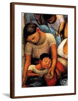 La Noche de Los Pobres-Diego Rivera-Framed Art Print