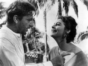 La Nuit by l'iguane THE NIGHT OF THE IGUANA by John Huston with Richard Burton and Ava Gardner, 196