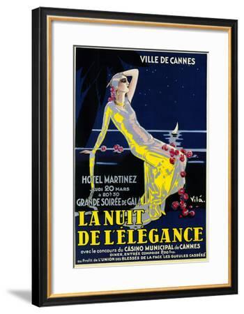La Nuit De Lelegance Play-Lantern Press-Framed Art Print