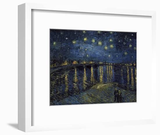 La Nuit Etoilée (Starry Night)-Vincent van Gogh-Framed Giclee Print