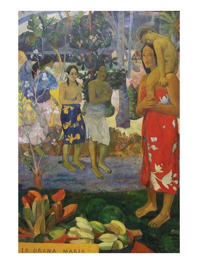 La Orana Maria (Hail Mary)-Paul Gauguin-Art Print