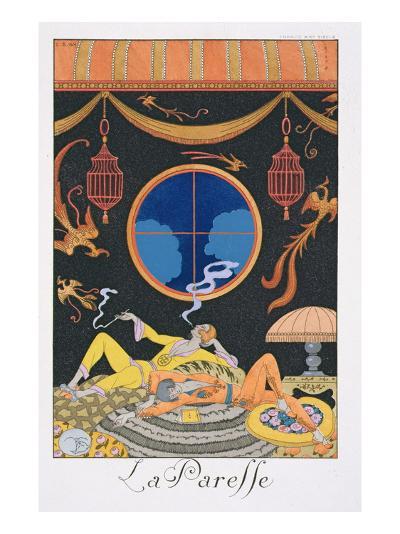 La Paresse, 1924-Georges Barbier-Giclee Print