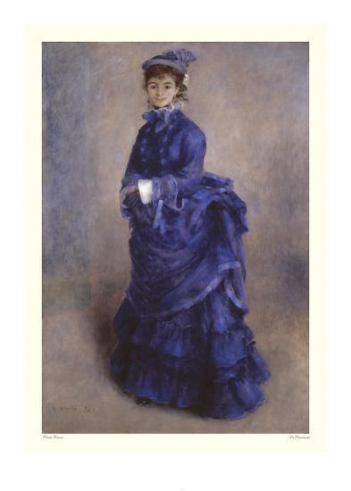 La Parisienne-Pierre-Auguste Renoir-Art Print