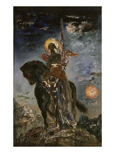 La Parque et l'Ange de la Mort-Gustave Moreau-Giclee Print