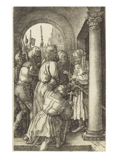La Passion du Christ (1507-1513). Le Christ devant Pilate-Albrecht D?rer-Giclee Print
