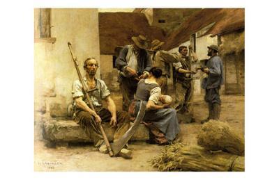 La Paye des Moissonneurs, c.1882-L?on Augustin L'hermitte-Art Print