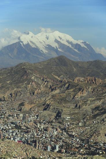 La Paz, Bolivia. Cityscape from El Alto viewpoint in La Paz, Bolivia.-Anthony Asael-Photographic Print