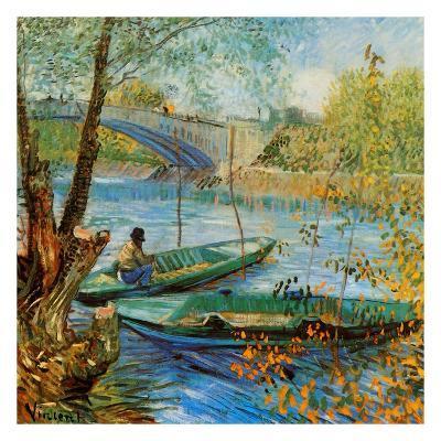 La Pêche Au Printemps, Pont De Clichy-Vincent van Gogh-Art Print