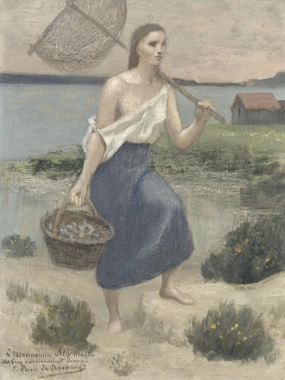 La pêcheuse-Pierre Puvis de Chavannes-Giclee Print