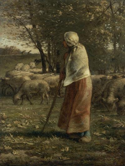 La petite berg�-Jean-Fran?ois Millet-Giclee Print