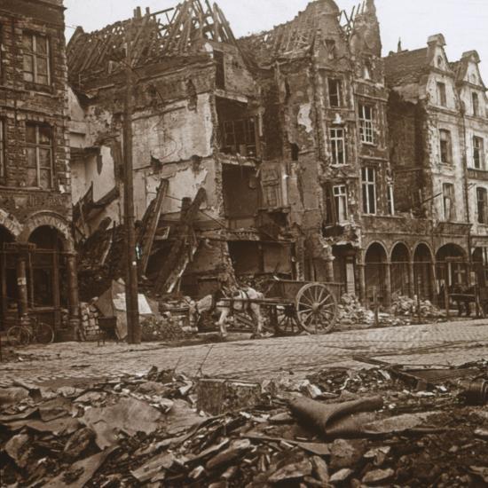 La Petite Place, Arras, northern France, c1914-c1918-Unknown-Photographic Print