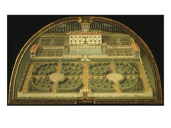La Petraia Villa, Built for the De Medici Family, Tuscany, Italy, from Series-Giusto Utens-Giclee Print