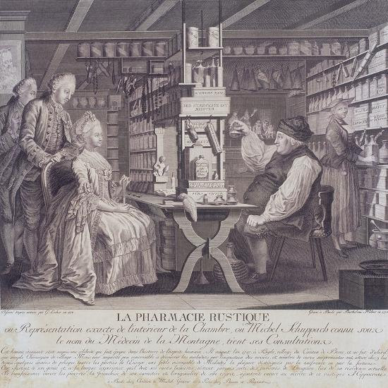 La Pharmacie Rustique, C1775-Barthelemi Hubner-Giclee Print
