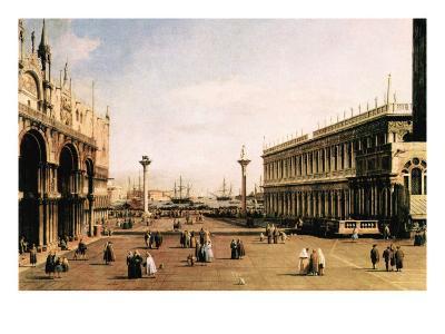 La Piazza-Canaletto-Art Print