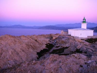 La Pietra Lighthouse, Ile Rousse, Corsica, France-Olivier Cirendini-Photographic Print