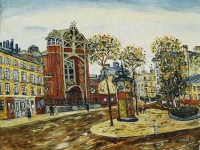 La Place a Montmartre-Elisee Maclet-Giclee Print