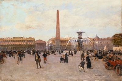 La Place De La Concorde-Luigi Loir-Giclee Print