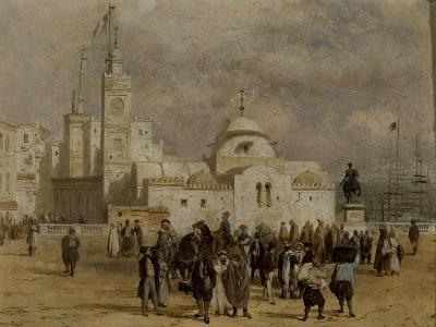 La place du Gouvernement à Alger-Adrien Dauzats-Giclee Print