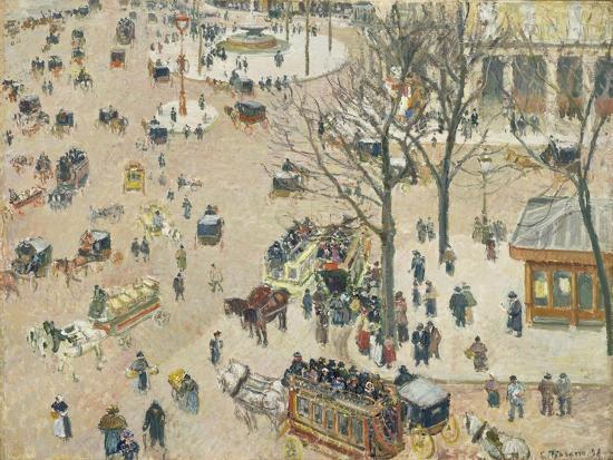 La Place Du Théâtre Français, 1898-Camille Pissarro-Giclee Print