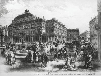 La Place Du Theatre-Francais with Comedie Francaise Building, C.1852-70--Giclee Print