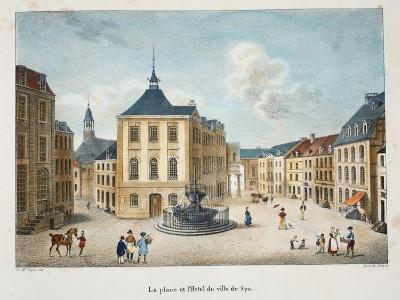 La Place Et L'Hotel De Ville De Spa, C.1895--Giclee Print
