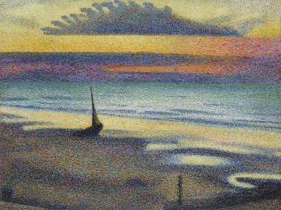 La Plage à Heist-Georges Lemmen-Giclee Print
