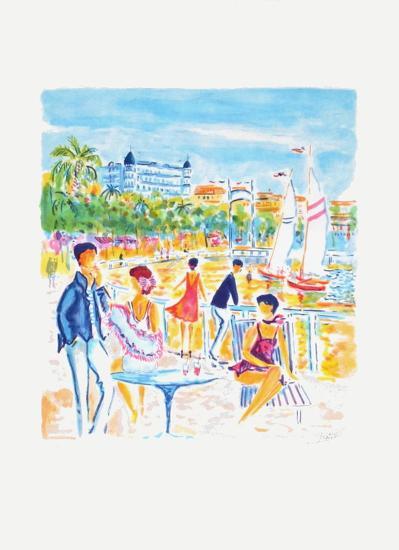 La plage de Cannes-Jean-claude Picot-Limited Edition
