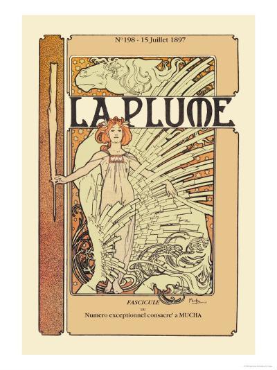 La Plume-Alphonse Mucha-Art Print