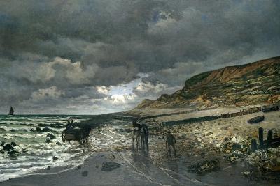 La Pointe De La Hève at Low Tide-Claude Monet-Giclee Print
