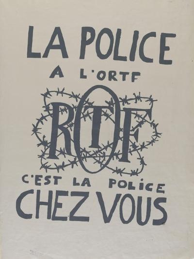 La police à l'O.R.T.F., c'est la police chez vous--Giclee Print