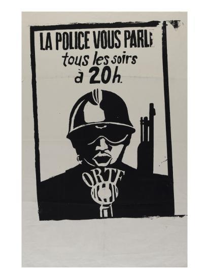 La police vous parle, tous les soirs à 20 heures--Giclee Print