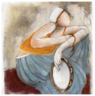 La Pose du Tambourin-Dom Dewalles-Art Print