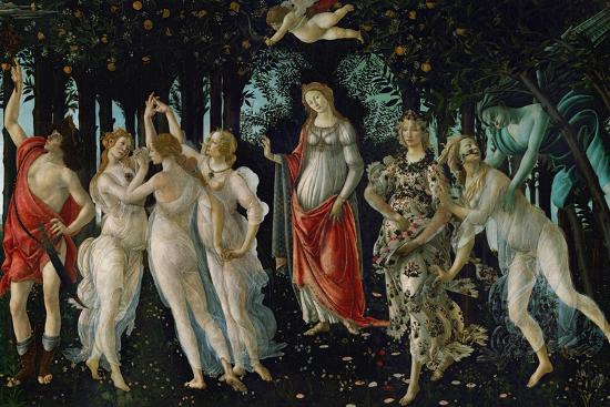 La Primavera (Spring), 1477-Sandro Botticelli-Giclee Print
