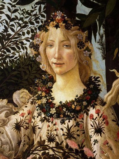 La Primavera, Spring, Detail of Spring, Flora, c.1475-Sandro Botticelli-Giclee Print