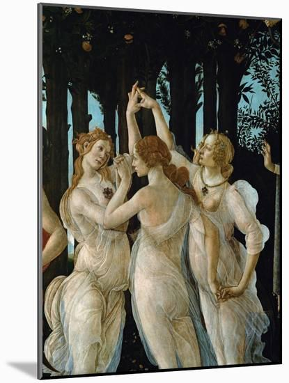 La Primavera, the Three Graces-Sandro Botticelli-Mounted Premium Giclee Print