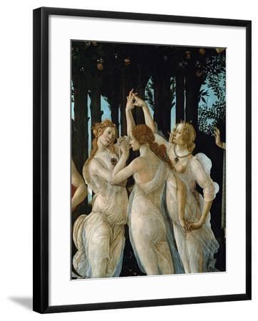 La Primavera, the Three Graces-Sandro Botticelli-Framed Giclee Print