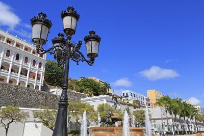 La Princesa Fountain in Old San Juan, Puerto Rico, Caribbean-Richard Cummins-Photographic Print
