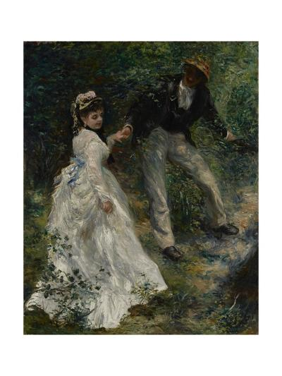 La Promenade, 1870-Pierre-Auguste Renoir-Giclee Print