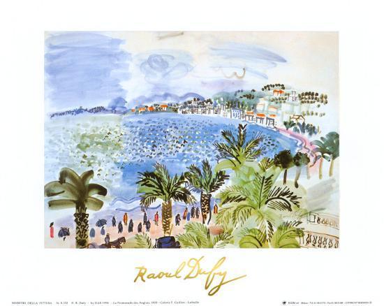 La Promenade des Anglais, c.1928-Raoul Dufy-Art Print