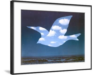 La Promesse-Rene Magritte-Framed Art Print