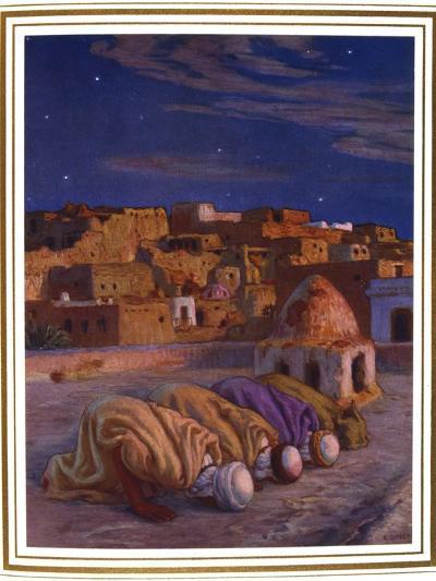 La Prosternation (La Prier)' ('Prayer of Prostration), 1918-Etienne Dinet-Giclee Print
