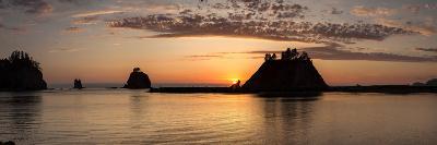 La Push, Washington. Quillayute River and Little James Island, Sunset-Michael Qualls-Photographic Print