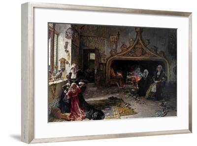 La Reina Doña Juana Recluida En Tordesillas Con Su Hija La Infanta Doña Catalina, 1906-Francisco Pradilla Y Ortiz-Framed Giclee Print