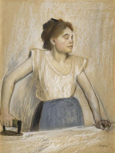 La repasseuse-Edgar Degas-Giclee Print