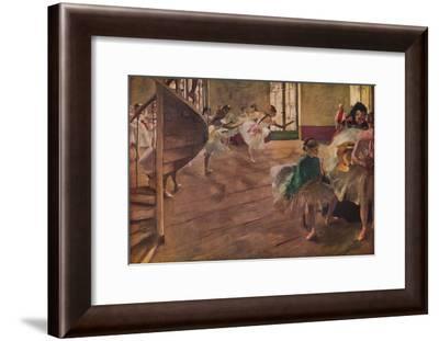 'La Repetition', 1877-Edgar Degas-Framed Giclee Print