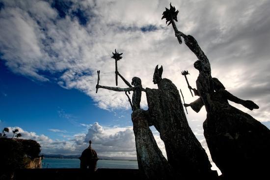 La Rogativa Sculpture, San Juan, Puerto Rico-George Oze-Photographic Print