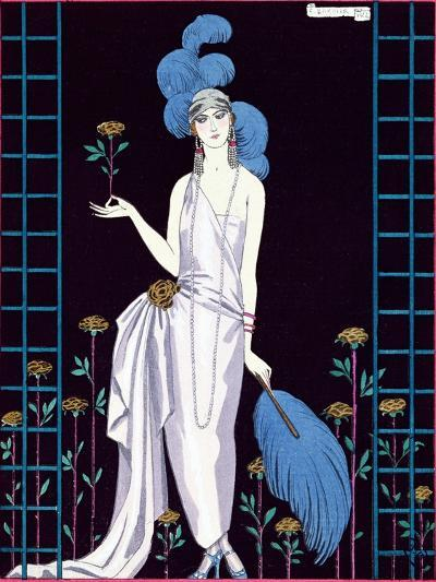 La Roseraie', Fashion Design for an Evening Dress by the House of Worth-Georges Barbier-Giclee Print