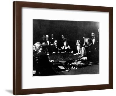 La Roulette a L'Interieur D'Un Casino a Monte Carlo, 1934-Charles Delius-Framed Art Print